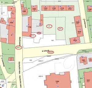 """Katastrální mapa """"Obchodní náměstí"""""""
